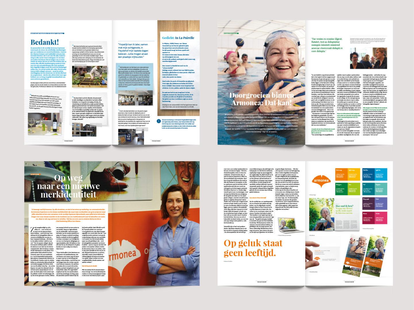 Armonea magazine spreads