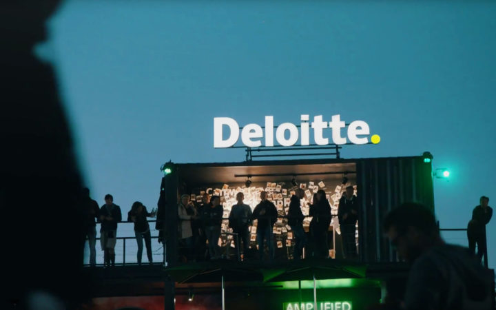 Shot of the Deloitte Werchter stand