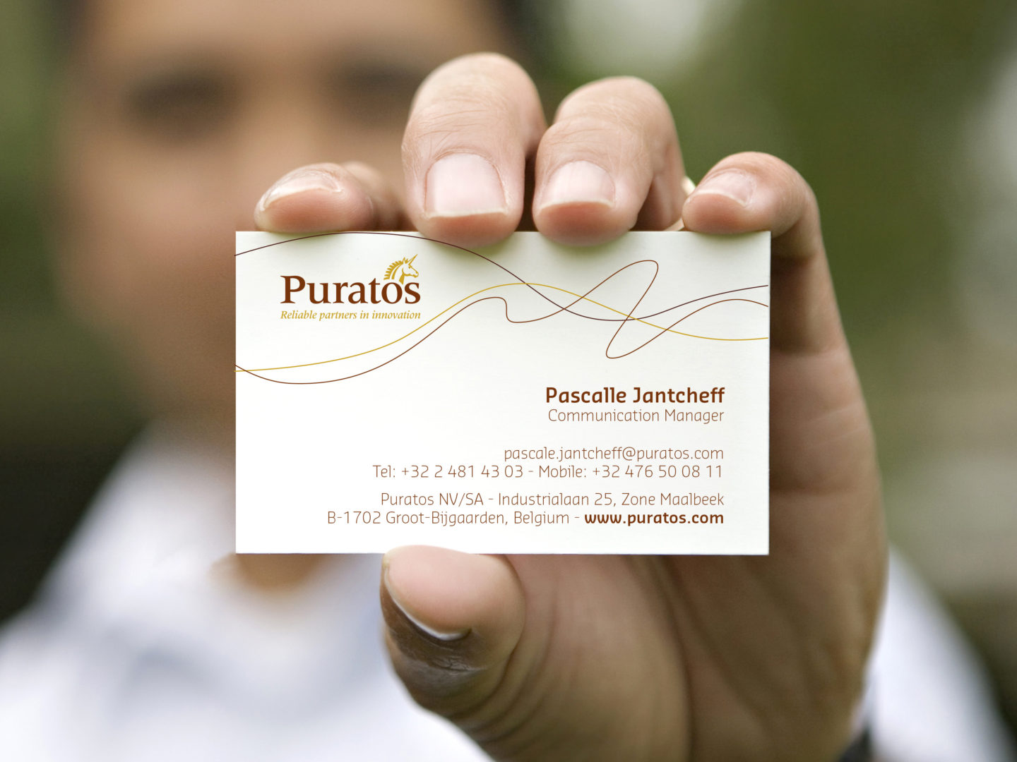 Puratos Business cards