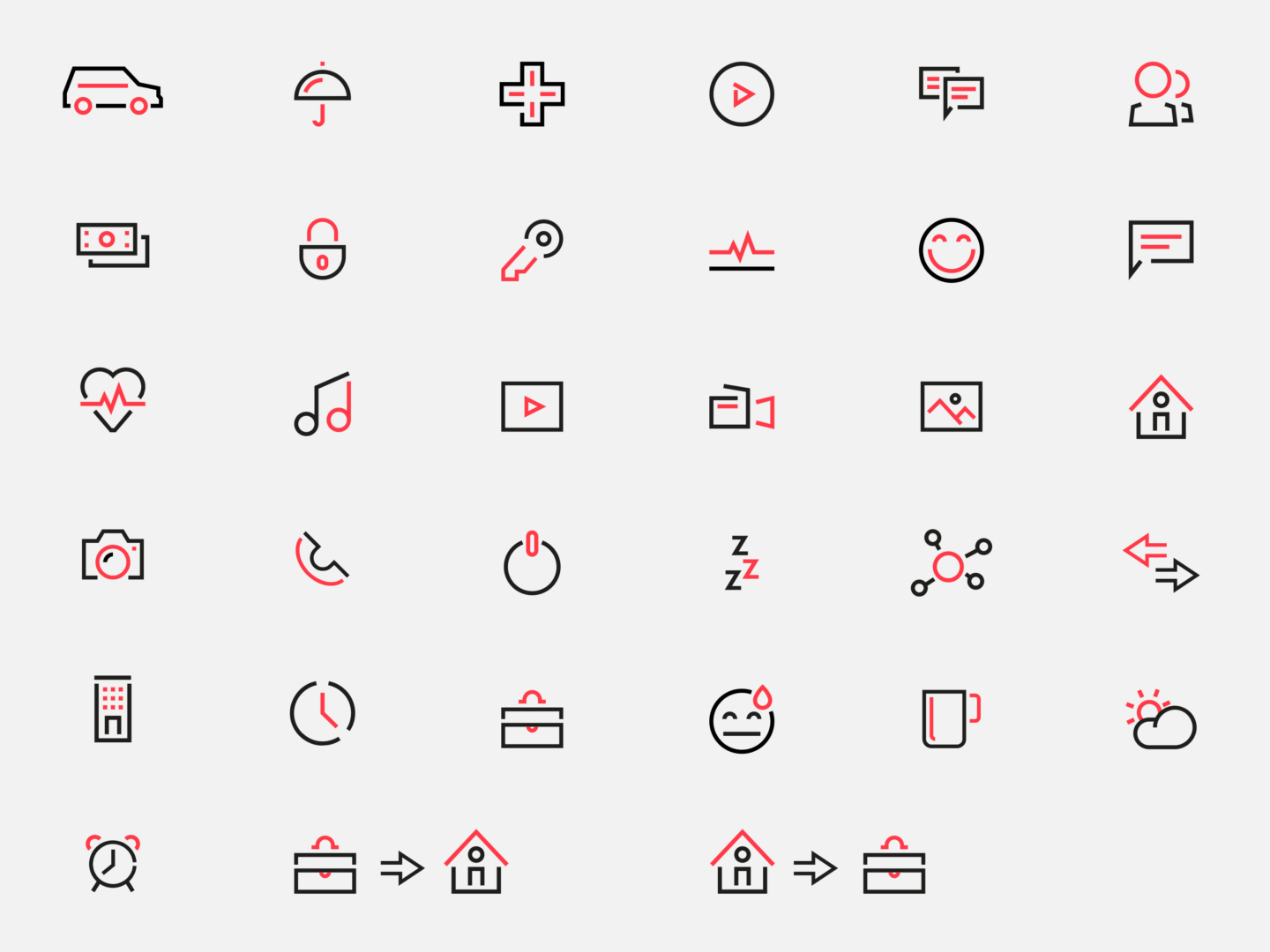 Sentiance custom icon set